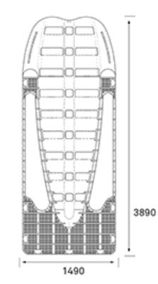piattaforma galleggiante per moto d'acqua